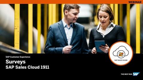 Thumbnail for entry Surveys – SAP Sales Cloud Release 1911