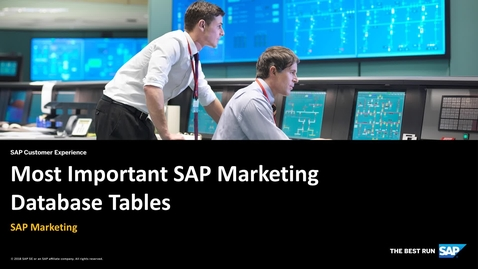 Thumbnail for entry Most Important SAP Marketing Database Tables - SAP Marketing