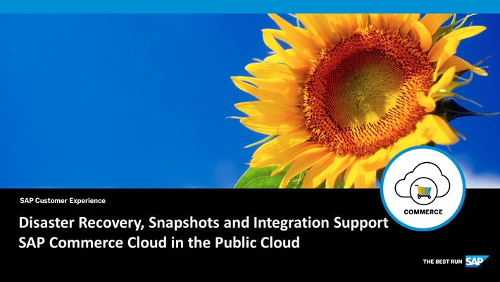 Disaster Recovery, Snapshots and Integration Support - SAP Commerce Cloud