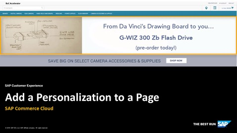 Thumbnail for entry Add a Personalization to a Page - SAP Commerce Cloud