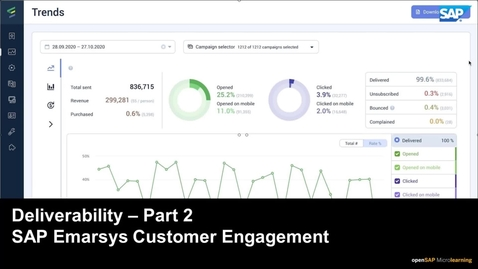 Thumbnail for entry Deliverability - Part 2 -  SAP Emarsys Customer Engagement