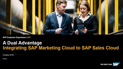 Thumbnail for entry Integrating Marketing Cloud to Sales Cloud - SAP Cloud for Customer and SAP Marketing Cloud
