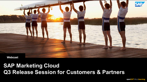 Thumbnail for entry SAP Marketing Cloud | What's New 2108 - Webcasts