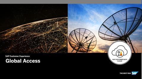 Global Access - SAP Customer Data Cloud