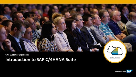 Thumbnail for entry Introduction to SAP C/4HANA Suite
