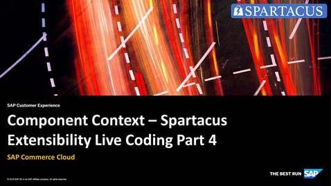 Thumbnail for entry Component Context - Spartacus Extensibility Live Coding Part 4 - SAP Commerce Cloud