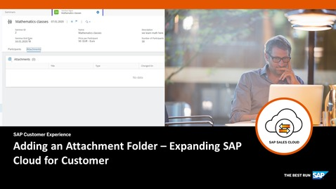Thumbnail for entry Adding an Attachment Folder - Extending SAP Cloud for Customer