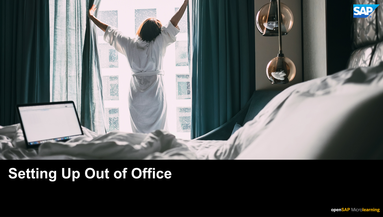 Setting Up Out of Office - SAP Sales Cloud