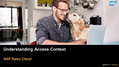 Thumbnail for entry Understanding Access Context - SAP Sales Cloud