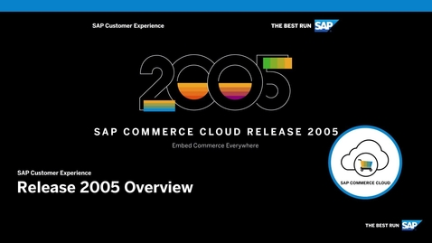 Thumbnail for entry An Overview of SAP Commerce Cloud Release 2005