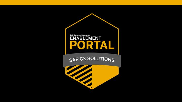 Thumbnail for channel SAP CX Enablement Portal Videos
