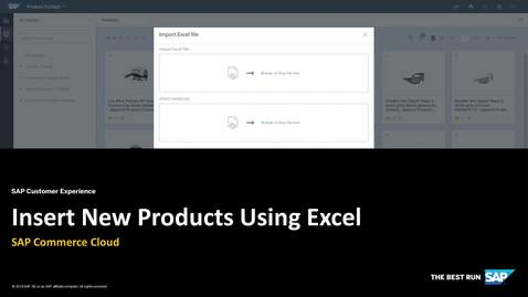 Thumbnail for entry Insert New Products Using Excel - SAP Commerce Cloud