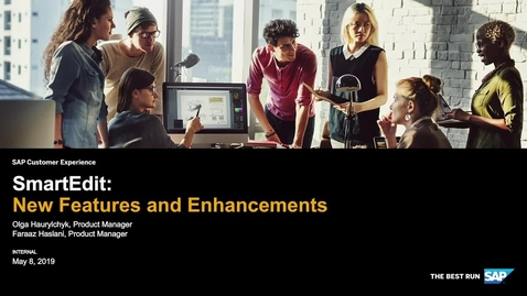 Thumbnail for entry SAP Commerce Cloud Smart Edit - Webinars