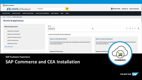 Thumbnail for entry SAP Commerce and CEA Installation
