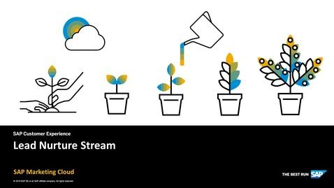 Lead Nurture Stream - SAP Marketing Cloud