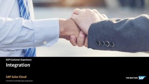 Thumbnail for entry Integration - SAP Sales Cloud Solution
