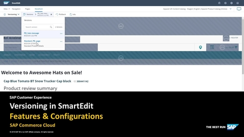 Thumbnail for entry Content Versioning in SmartEdit - SAP Commerce Cloud