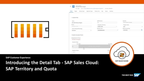 Thumbnail for entry Introducing the Detail Tab in SAP Territory and Quota