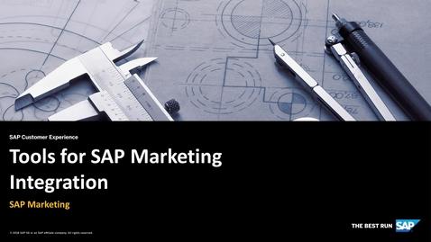 Thumbnail for entry Tools for SAP Marketing Integration - SAP Marketing