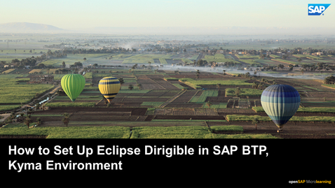 Thumbnail for entry How to Set Up Eclipse Dirigible in SAP BTP, Kyma Environment