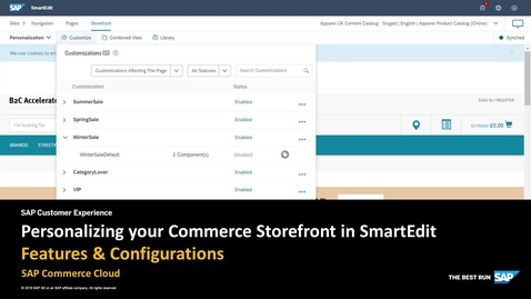 Thumbnail for entry Personalizing Your Commerce Storefront in SmartEdit - SAP Commerce Cloud