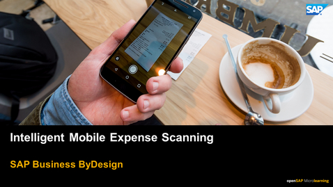Thumbnail for entry Intelligent Mobile Expense Scanning - Business ByDesign