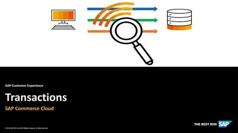 Thumbnail for entry Transactions – SAP Commerce Cloud