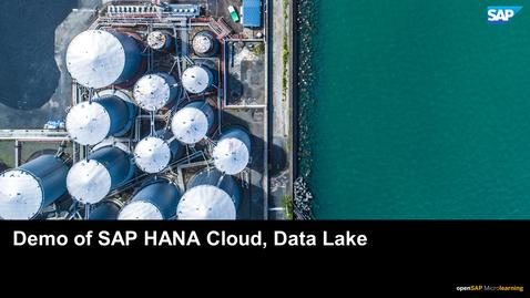 Thumbnail for entry Demo of SAP HANA Cloud, Data Lake