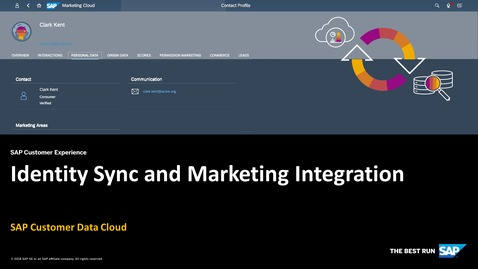 Thumbnail for entry Identity Sync and SAP Marketing Cloud Integration - SAP Customer Data Cloud