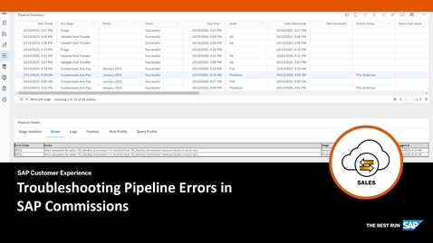 Thumbnail for entry Troubleshooting Pipeline Errors in SAP Commissions