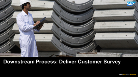Thumbnail for entry Downstream Process: Deliver Customer Survey - PLM: Developing Products