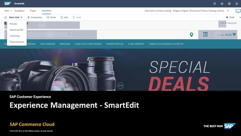 Thumbnail for entry Experience and Web Content Management in SmartEdit - SAP Commerce Cloud