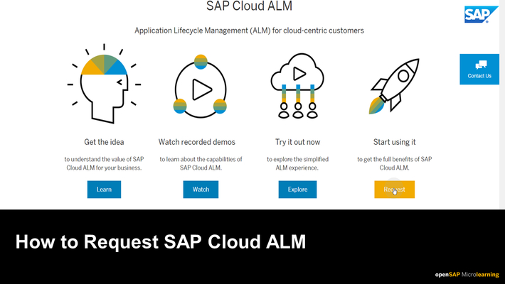 How to Request SAP Cloud ALM