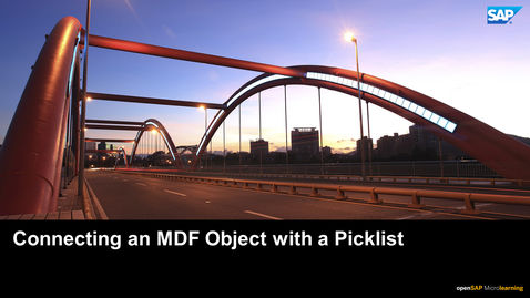 Thumbnail for entry Connecting an MDF Object with a Picklist - SAP SuccessFactors