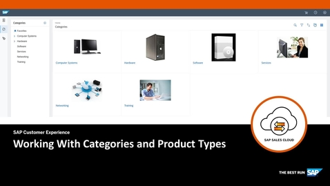Thumbnail for entry Working with Categories and Product Types - SAP CPQ