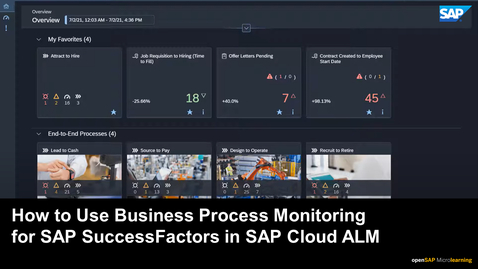 Thumbnail for entry How to Use Business Process Monitoring for SAP SuccessFactors in SAP Cloud ALM