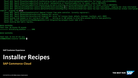 Thumbnail for entry [ARCHIVED] Installer Recipes - SAP Commerce Cloud