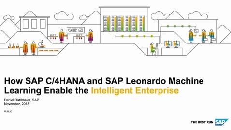 Thumbnail for entry Machine Learning Enabling the Intelligent Enterprise - SAP C/4HANA