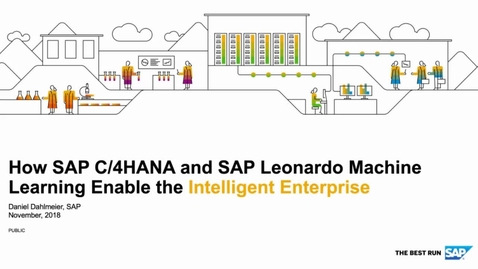 Thumbnail for entry Machine Learning Enabling the Intelligent Enterprise - SAP C/4HANA
