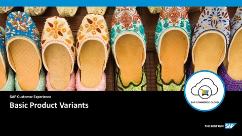 Thumbnail for entry Basic Product Variants - SAP Commerce Cloud