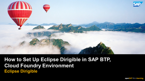 Thumbnail for entry How to Set Up Eclipse Dirigible in SAP BTP,  Cloud Foundry Environment