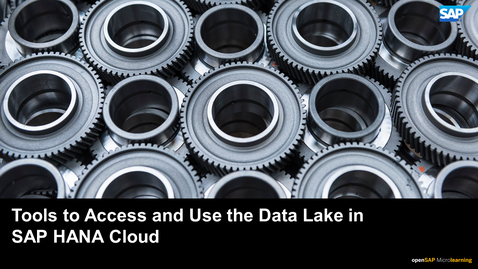 Thumbnail for entry Tools to Access and Use the Data Lake in SAP HANA Cloud