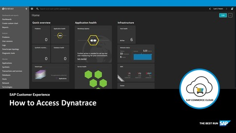 Thumbnail for entry How to Access Dynatrace - SAP Commerce Cloud