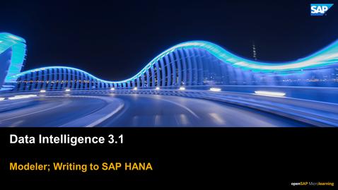 Thumbnail for entry Writing To Hana - SAP Data Intelligence