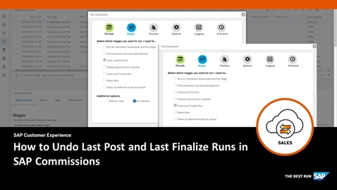 Thumbnail for entry How to Undo Last Post and Last Finalize Runs in SAP Commissions