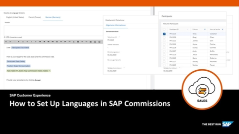 Thumbnail for entry How to Set Up Languages in SAP Commissions
