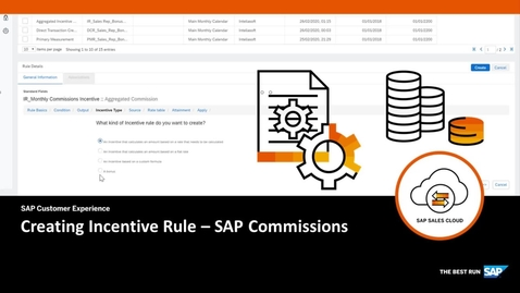 Thumbnail for entry Creating Incentive Rules - SAP Commissions