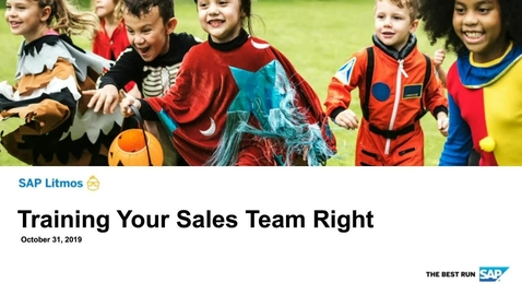 Thumbnail for entry SAP Training Cloud - Train your sales teams right - Webinars
