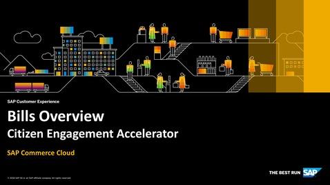 Thumbnail for entry Bills Overview - SAP Commerce Cloud - Citizen Engagement Accelerator