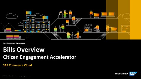 Thumbnail for entry Bills Overview - SAP Commerce Cloud - Citizen Engagement Accelerator